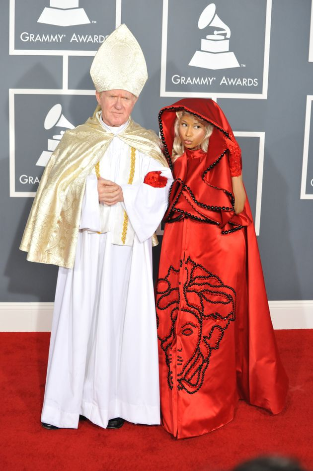 Nicki and her guest at the Grammys in