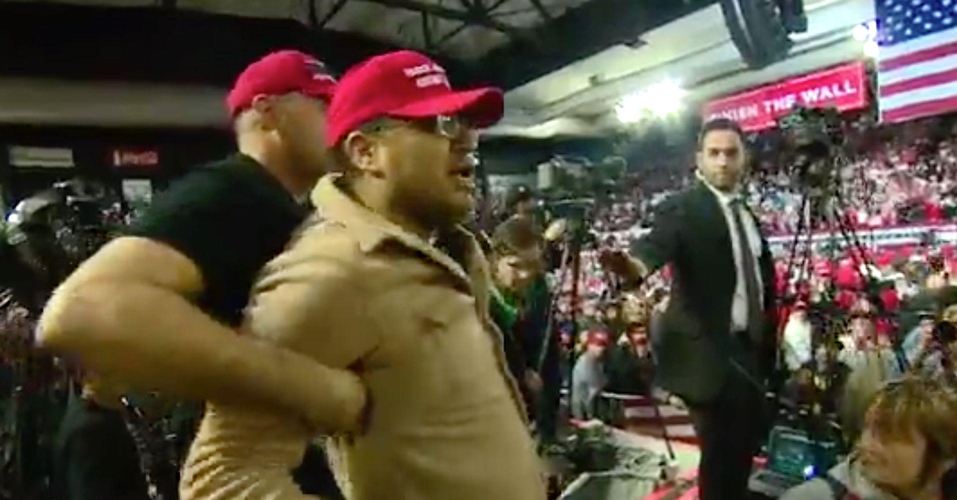 Trump Fan Launches 'Incredibly Violent Attack' On BBC Cameraman At El Paso Rally