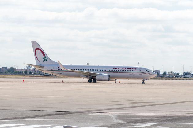 Un avion Royal Air Maroc à l'aéroport de Marrakech, juin