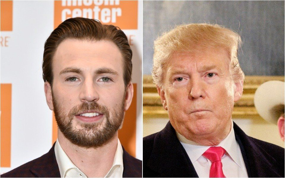 Chris Evans and Donald Trump