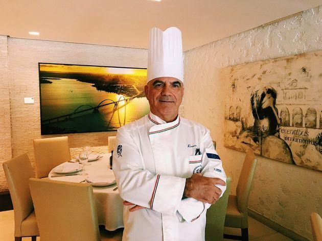 O chef Rosario Tessier, italiano mais premiado na gastronomia