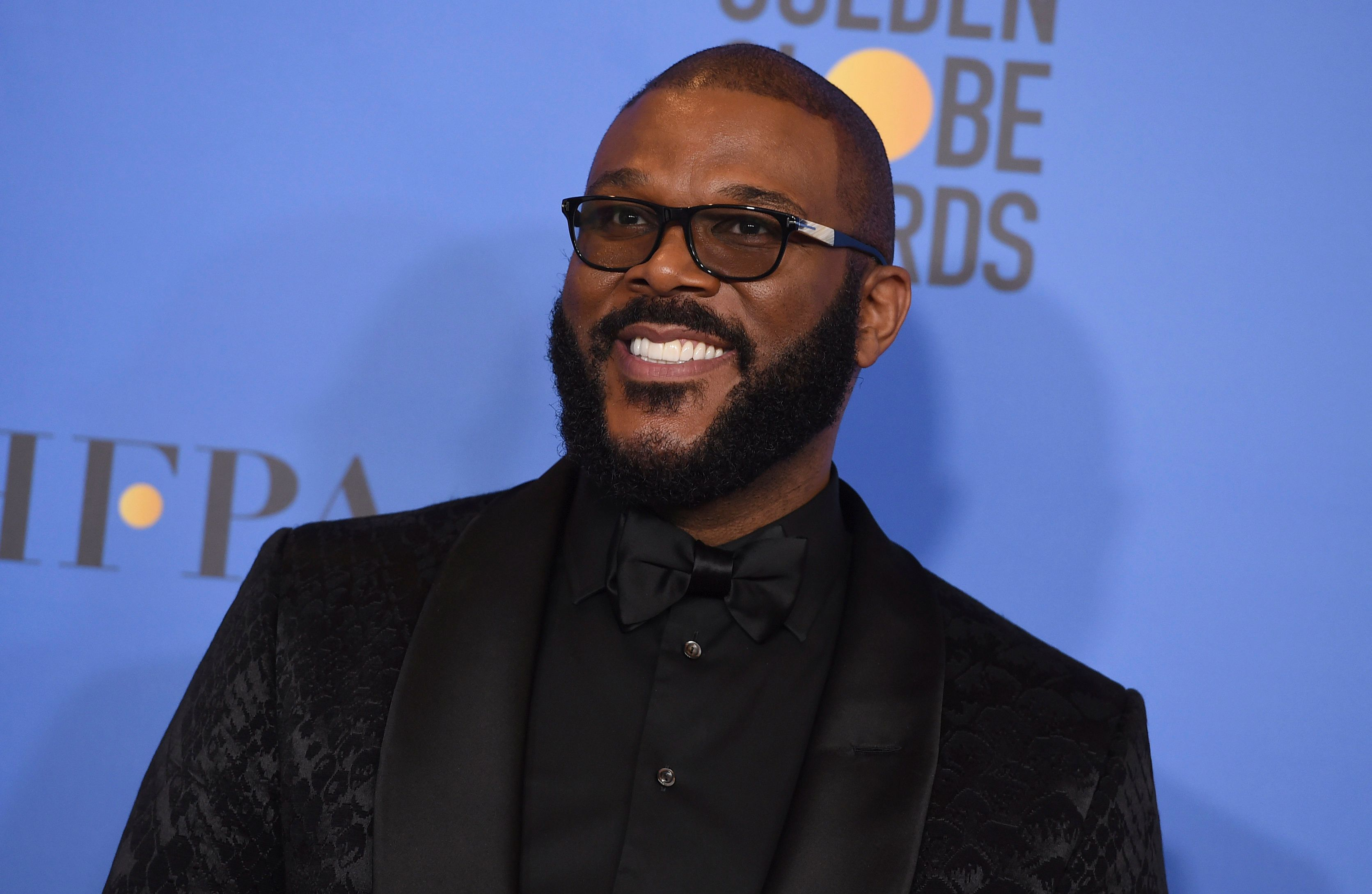 Tyler Perry poses in the press room at the 76th annual Golden Globe Awards at the Beverly Hilton Hotel on Sunday, Jan. 6, 2019, in Beverly Hills, Calif. (Photo by Jordan Strauss/Invision/AP)