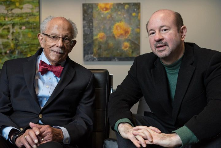 Warren M. Washington (left) and Michael E. Mann (right).