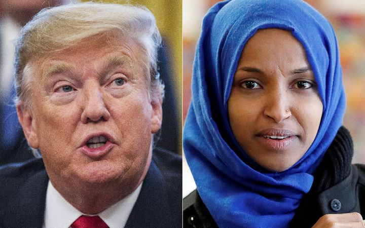 """President Donald Trump said Tuesday that Rep. Ilhan Omar's recent apology was """"lame."""""""