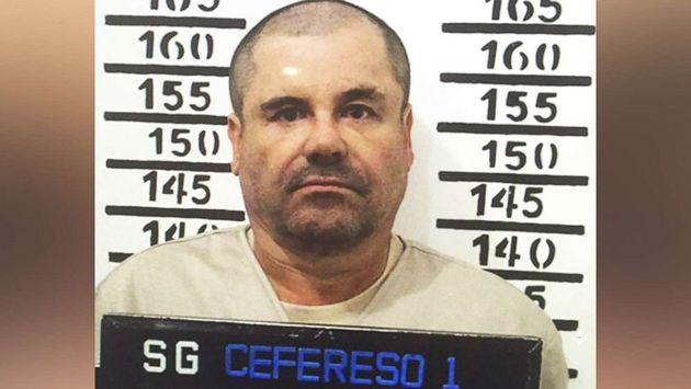 """Joaquin """"El Chapo"""" Guzman pictured in"""