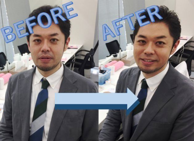 メイク前とメイク後の上司(あんまり変わってない?)