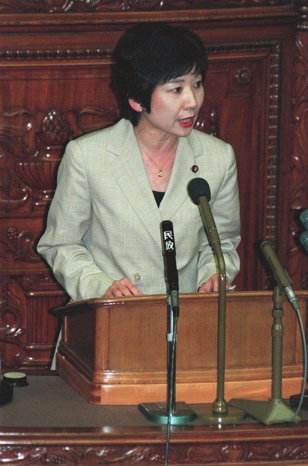 男女共同参画社会基本法案で答弁する野田聖子郵政相(1999年06月)