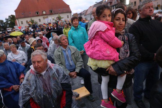 ドイツへと逃れてきたシリア難民