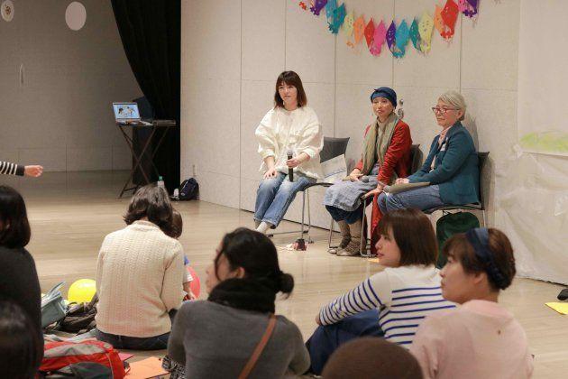 (左から)神田沙織さん、中島デコさん、小水映さん