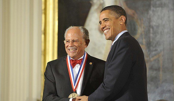 President Obama awards Warren Washington the National Medal of Science.