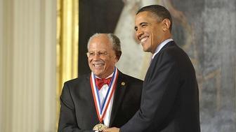 President Obama awards Warren Washington the National Medal of Science.