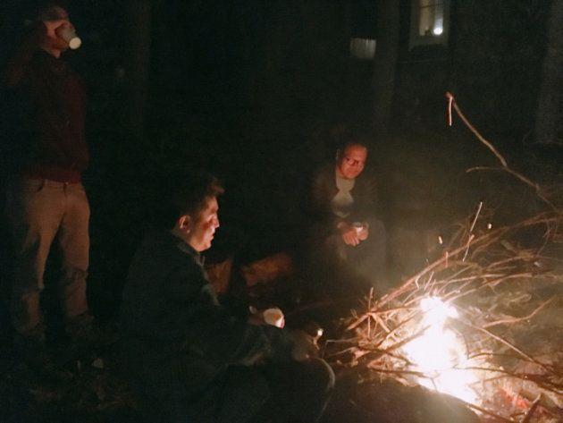 焚き火体験は本当に癒されて今回のツアーで1番ハマりました
