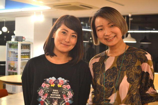 イベントに登壇したエスコラ茜さん(左)と井土さん