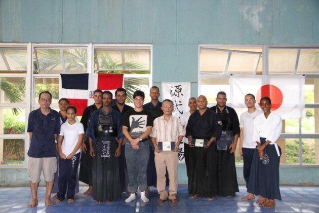 ドミニカで習っていた剣道の仲間と