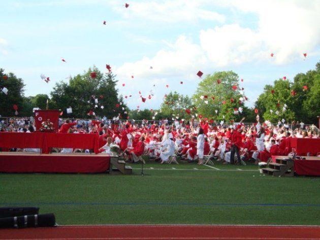 アメリカで通っていた高校の卒業式
