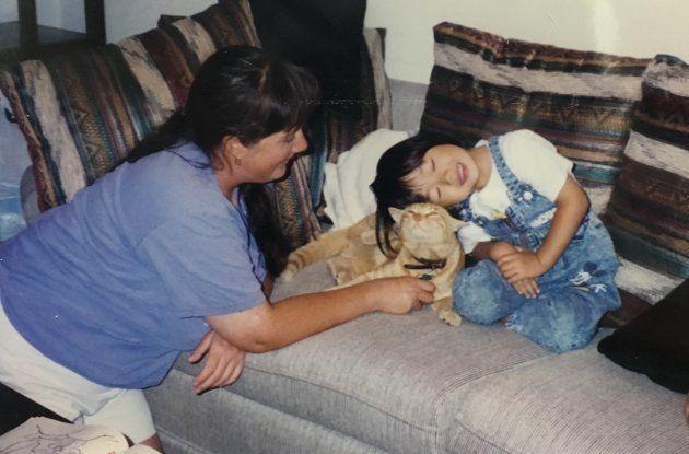 カニーと3歳の時の筆者