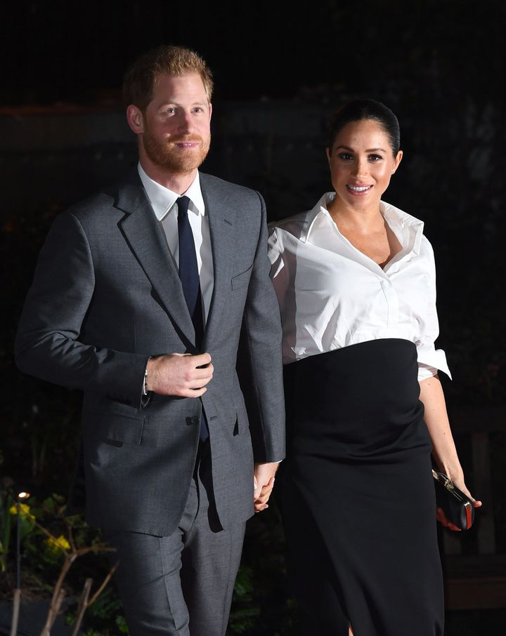 The Duke and Duchess of Sussex arriving at the Endeavour Fund Awards at Draper's Hall, London.