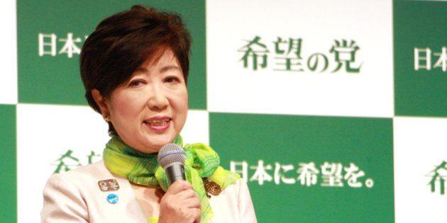 「希望の党」の設立会見をする小池百合子代表