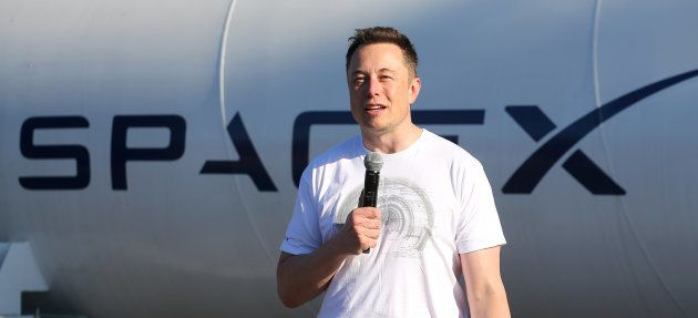 Elon Musk, founder, CEO and lead designer at SpaceX and co-founder of Tesla, speaks at the SpaceX Hyperloop...