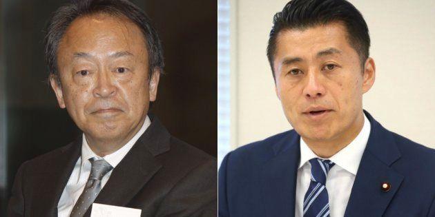 池上彰氏(左)と細野豪志氏