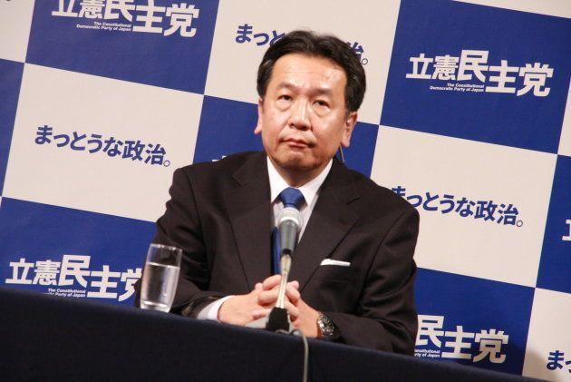 立憲民主党の枝野幸男代表(2017年10月22日)