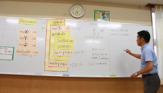 プログラミングを解説する松田校長