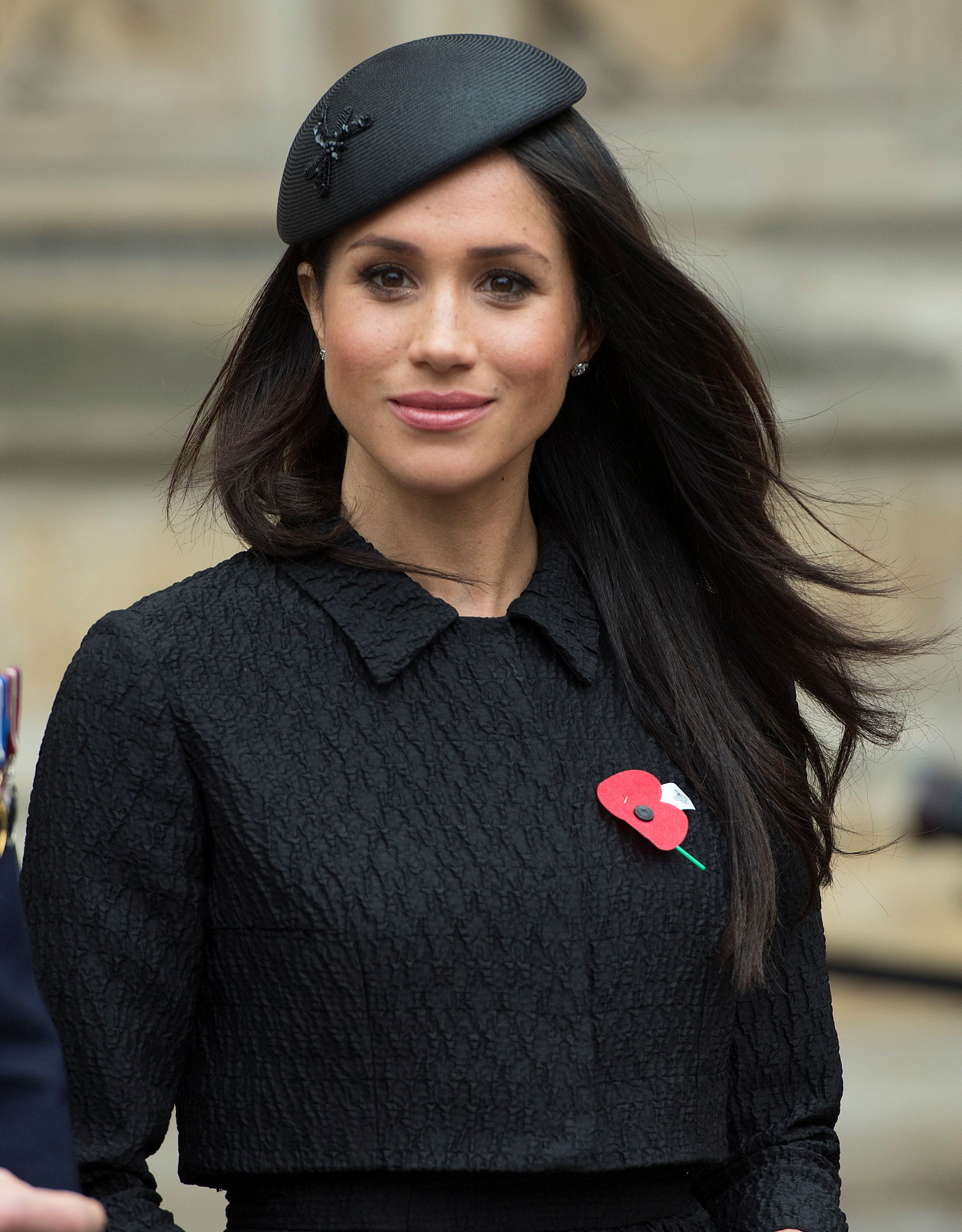 Meghan Markle, the fiancee of Britain's Prince Harry, attends a Service of Thanksgiving and Commemoration on ANZAC Day at Westminster Abbey in London, Britain, April 25, 2018. Eddie Mulholland/Pool via Reuters