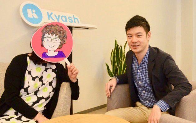 (左)ちきりんさん(右)Kyashの鷹取真一社長