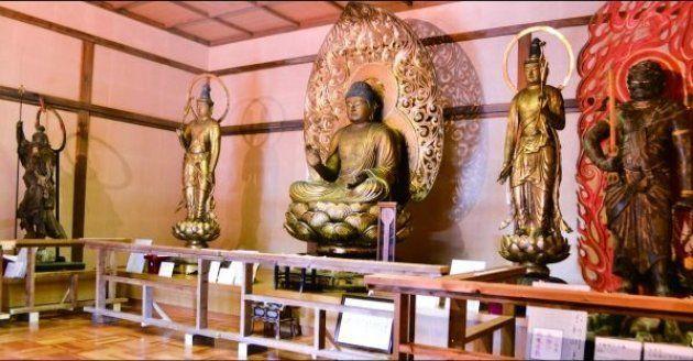 浄楽寺に受け継がれてきた運慶作の5体の仏像=浄楽寺提供