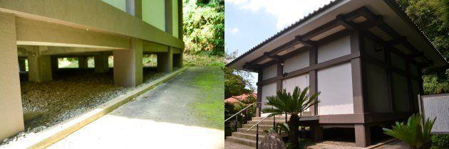 改修工事前の浄楽寺の収蔵庫=浄楽寺提供