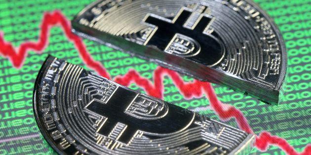 ビットコイン暴落のイメージ写真