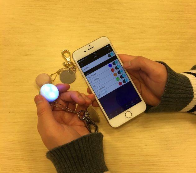 手持ちのiPhoneにアプリをインストールして色や音を種類別にカスタマイズできる