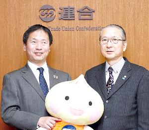 左:河合純一 日本パラリンピアンズ協会会長 右:神津里季生
