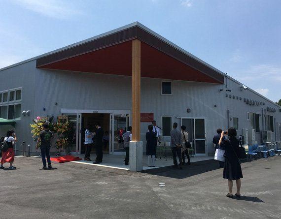 2017年6月に完成した福祉作業所「かたつむり」(岩手県大船渡市、2017年6月24日)