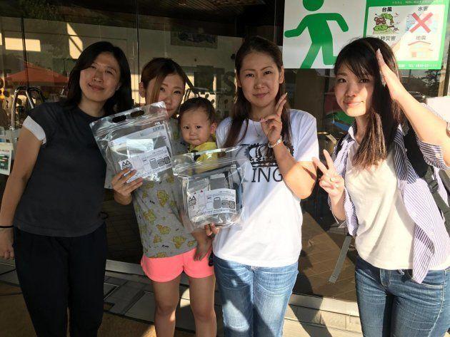 2017年の九州北部豪雨の被災地にもレスキューランジェリーを届けた(本間さん提供)
