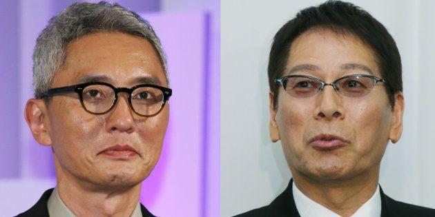 松重豊(左)と故・大杉漣さん