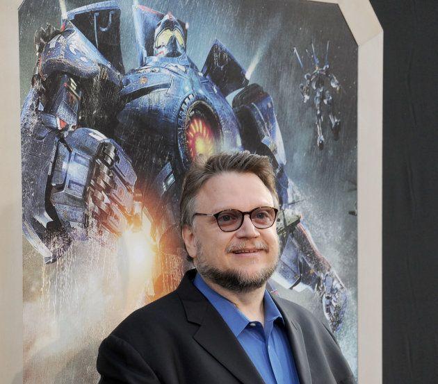 映画『パシフィック・リム』のプレミアム試写会に登場した際のデル・トロ監督(ハリウッド・2013年7月9日)