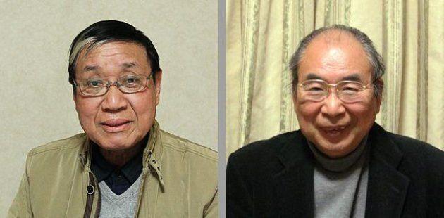 飯塚俊男監督(左)と鈴木越夫さん