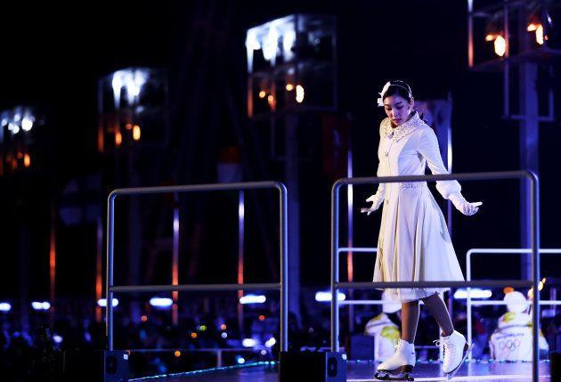 平昌オリンピックに登場したキム・ヨナ。2018年2月9日、韓国・平昌。