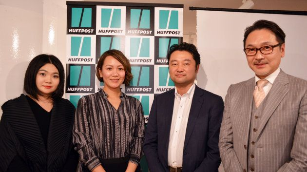 左から:林亜季(ハフポスト日本版パートナー・スタジオ)、井上朋子氏(BMW Group