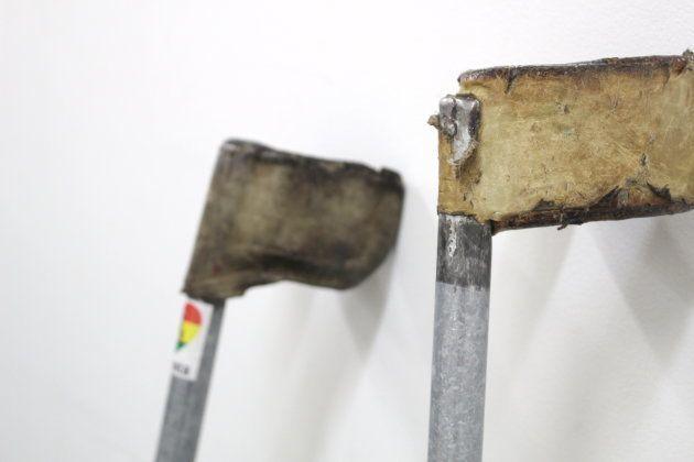 使い込まれたガテラさんの杖