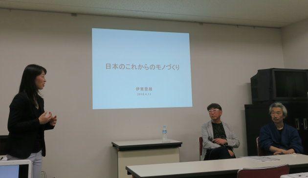 ジュエリー・アーティスト・ジャパン/JAJ代表米井 亜紀子氏 (左)、伊東豊雄氏(中央)、鹿島和生氏(右)