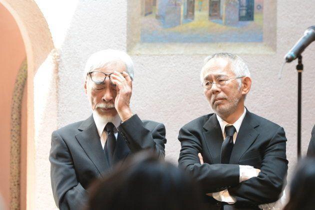 お別れ会で高畑さんを偲ぶ、宮崎駿監督と鈴木敏夫プロデューサー