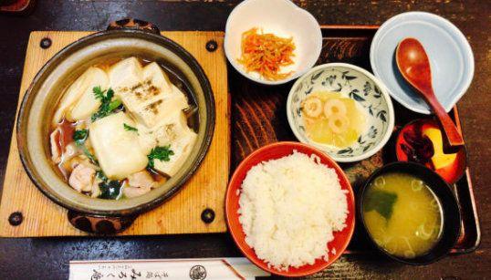 みろく庵「肉豆腐定食」(餅追加)
