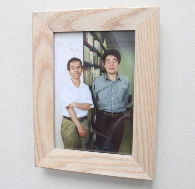 「ジブリの大展覧会」(2016年)に展示されていた鈴木敏夫プロデューサーと高畑勲監督のツーショット