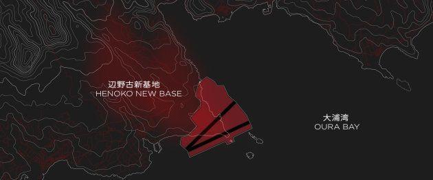 辺野古・大浦湾周辺の地図