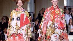 """日本風""""少女漫画""""ドレスがパリでデビュー。全面に「あの顔」"""