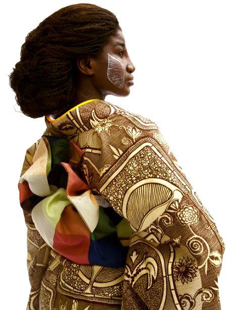 西アフリカのデザインと着物が融合