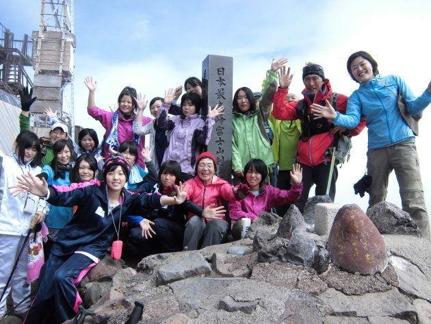 2013年の富士登山にて