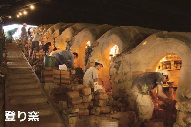 読谷村やちむんの里・登り窯 写真提供:読谷村観光協会